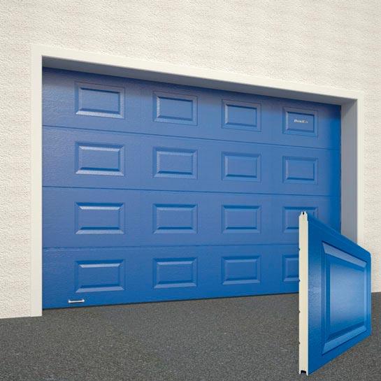 Ворота DoorHan цвет синий RAL5005 структура панели Филенка структура панели под дерево