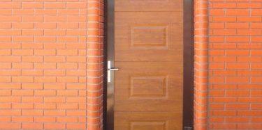 Гаражная дверь (DoorHan) Дорхан со структурой панели Филенка цвет Золотой Дуб