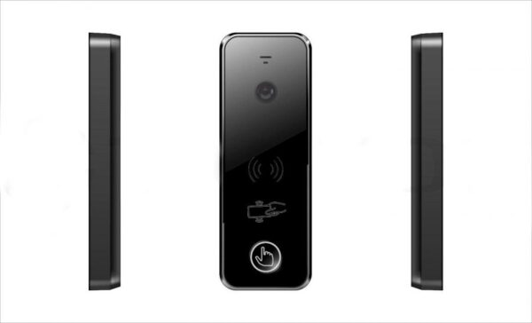 Ipanel 2 WG Tantos вызывная панель с автономным контроллером и считывателем карт Mifare вид спереди сбоку черная