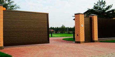 Откатные (сдвижные) ворота: - от производителей Alutech (Алютех) и DoorHan (Дорхан). - Ворота собственного производства с любым заполнением и любых размеров.