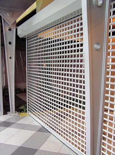 Роллетные решетки экструдированный решетчатый профиль Doorhan Дорхан серебристый