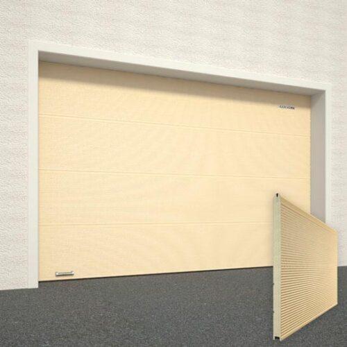 Ворота DoorHan Цвет Бежевый RAL1014 рисунок панели Микроволна структура панели Под дерево