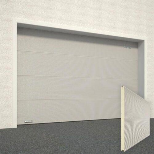 Дизайн ворот RAL7004 микроволна под дерево цвет серый DoorHan