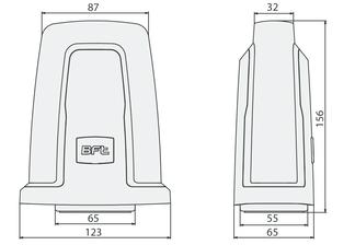 Схема и размеры сигнальная лампа BFT 24V RADIUS B LT A