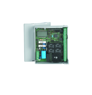 внешний блок управления (панель управления) автоматикой BFT VIRGO для распашных ворот с схемы