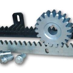 Зубчатая рейка для откатных ворот к приводу для ворот с креплениями и шестерней пример