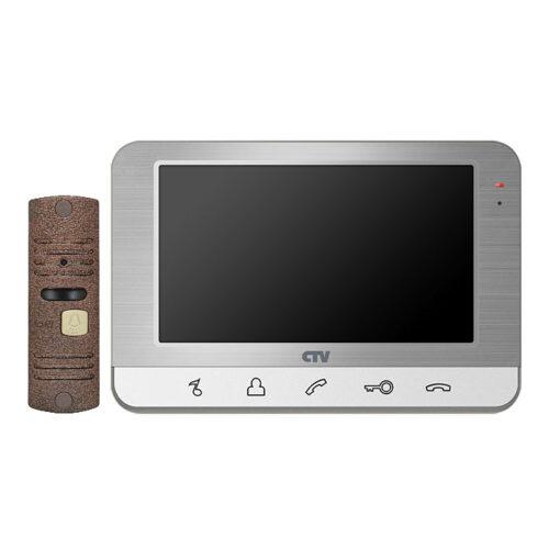 Комплект домофонная система CNV dp701 в Барановичах с вызывной панелью для дома цвет Серебро