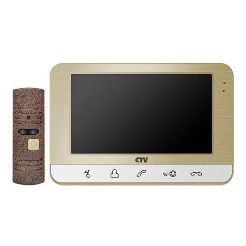 Комплект домофонная система CNV dp701 в Барановичах с вызывной панелью для дома цвет шампань